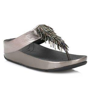 Fit Flops Cha Cha Bronze Metallic Sandals 10 Beach